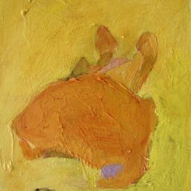 """Yellow, Acrylic on panel, 6"""" x 9"""""""