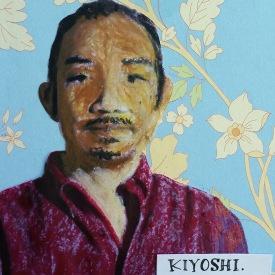 """Kiyoshi Kuromiya, Mixed media on board, 4"""" x 5"""""""