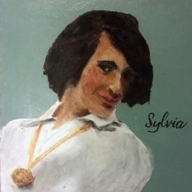 """Sylvia Rivera, Mixed media on board, 5"""" x 5"""""""