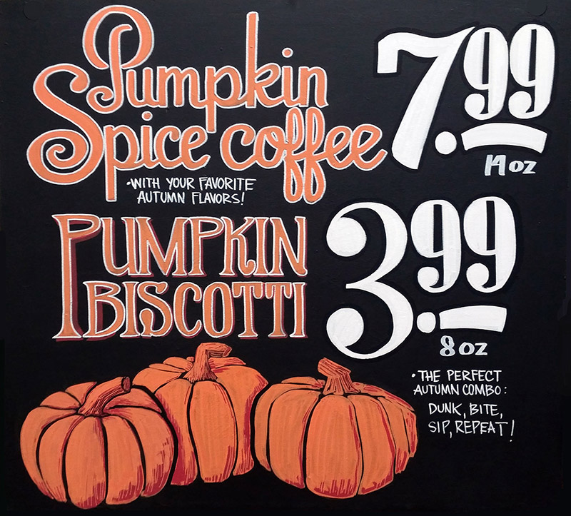 handpainted-sign-pumpkin-coffee-and-biscotti-optimized