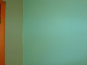 Stripes of paint on wall