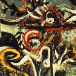 Jackson Pollock, The She-Wolf, detail