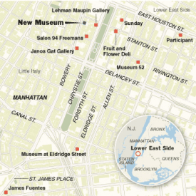 LES NYC map