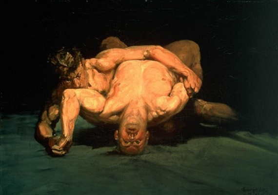 "George Luks, ""The Wrestlers"", 1905"