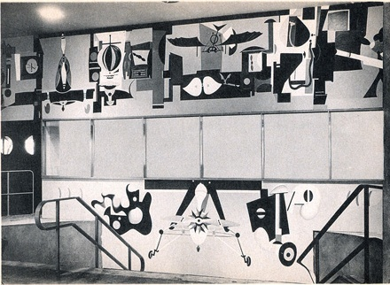 Arshile Gorky, Man's Conquest of the Air, 1939 World's Fair mural, now destroyed