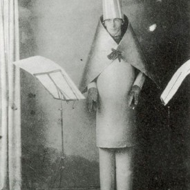 Hugo Ball Performing at Cafe Voltaire, 1916