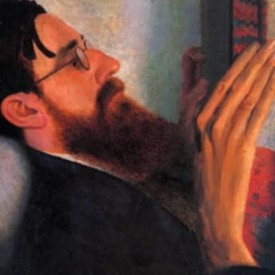 Portrait of Lytton Strachey, by Dora Carrington