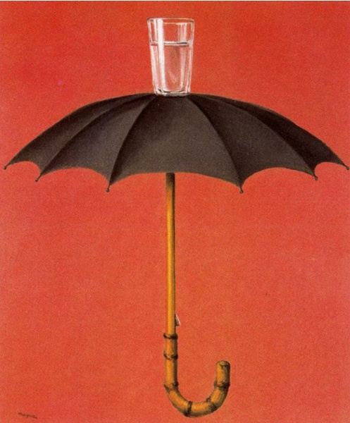 "Magritte, Hegel's Holiday, 1958, 18"" x 15"""