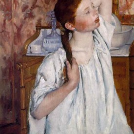 Mary Cassatt, Girl Arranging Her Hair, 1886