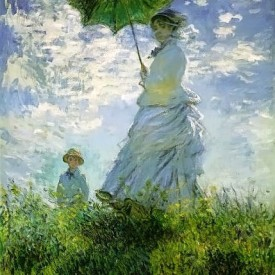 The Stroll-Camille Monet and Her Son Jean, by Claude Monet