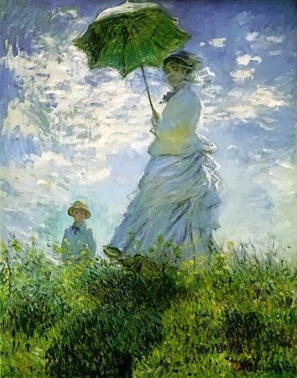 Monet painting The Stroll