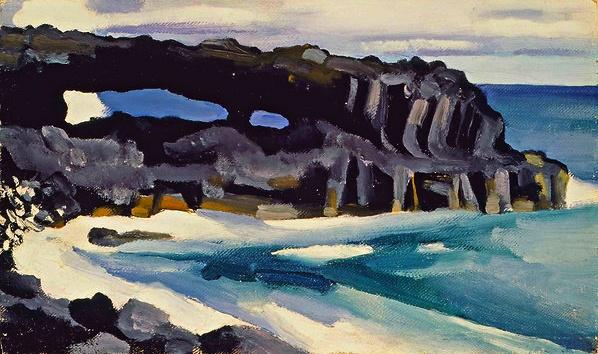 Black Lava Bridge, Hana Coast No. 1, by Georgia O'Keeffe, 1939