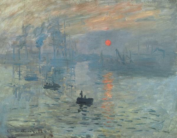 Claude Monet, Impression: Sunrise, 1873