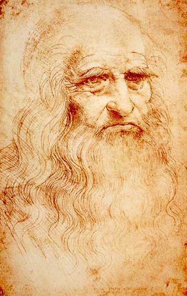 Portrait of a Man in Red Chalk (believed to be self-portrait), Leonardo da Vinci, c. 1510-1515