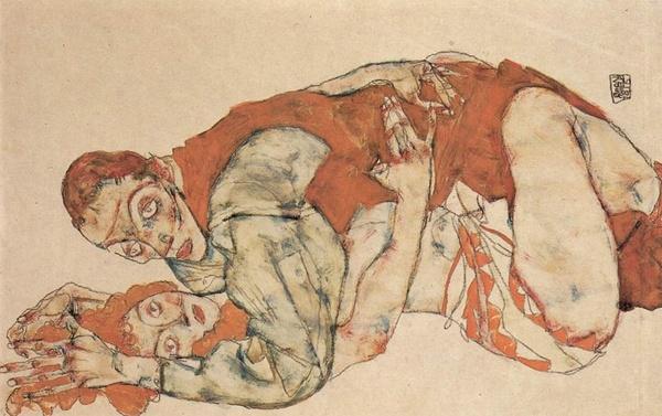 Egon Schiele Liebesakt Studie, 1915