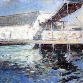 John Twachtman, Fish Sheds, Gloucester, Massachusetts, 1902