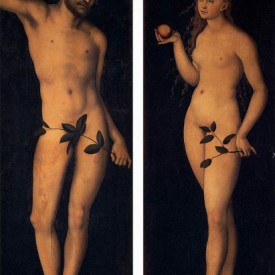 Adam and Eve, Lucas Cranach the Elder, oil on panel (diptych), 1528