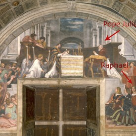 Mass at Bolsena, Rahael, fresco, 1512