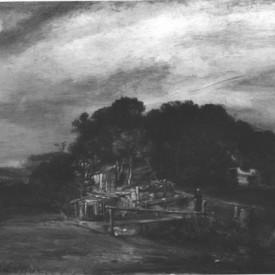 Rembrandt van Rijn, Landscape with Cottages, 1654