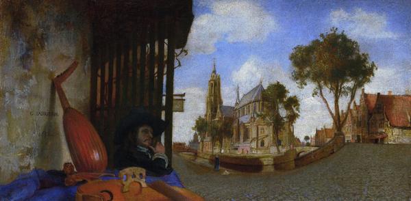 Carel Fabritius, View of Delft, 1652
