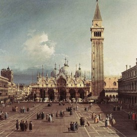 October 18-Canaletto-Piazza San Marco w Basilica