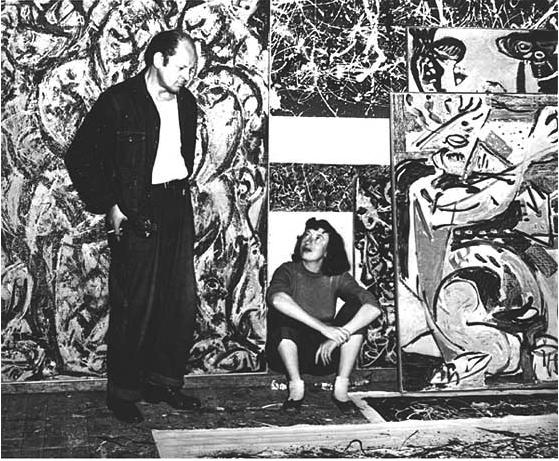 Lee Krasner and Jackson Pollock c. 1949