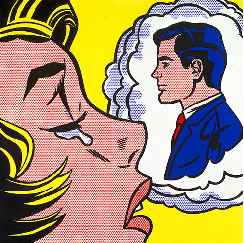 Roy Lichtenstein, Thinking of Him, 1963
