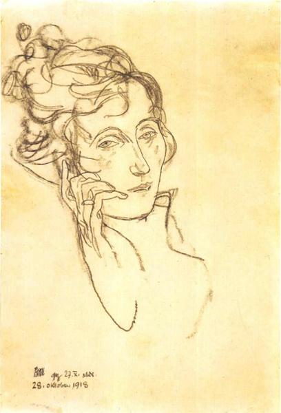 Egon Schiele, Dying Edith Schiele, 1918