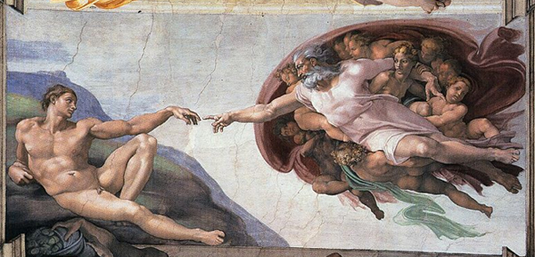 Michelangelo, The Creation of Adam, 1511 (Sistine Ceiling 1508-1512)