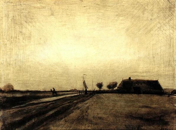 Vincent van Gogh, Landscape in Drenthe, 1883