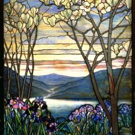 Louis Comfort Tiffany, Magnolia and Irises,  c. 1908.