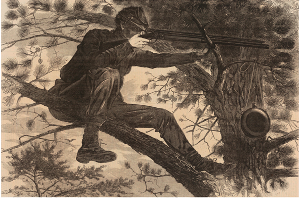 Winslow Homer, The Army of the Potomac - A Sharpshooter on Picket Duty, 1862