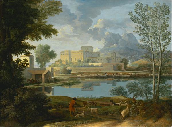 Nicholas Poussin, Pastoral Landscape, 1650.