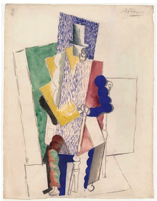 Pablo Picasso, Man in the Opera Hat, 1914