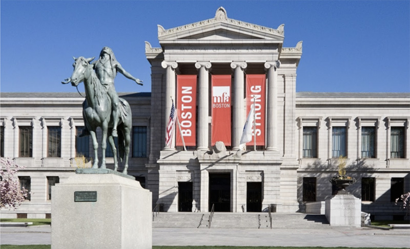 Facade of the Museum of Fine Arts Boston.